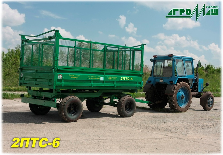 Tractor tipper trailer 2PTS-6